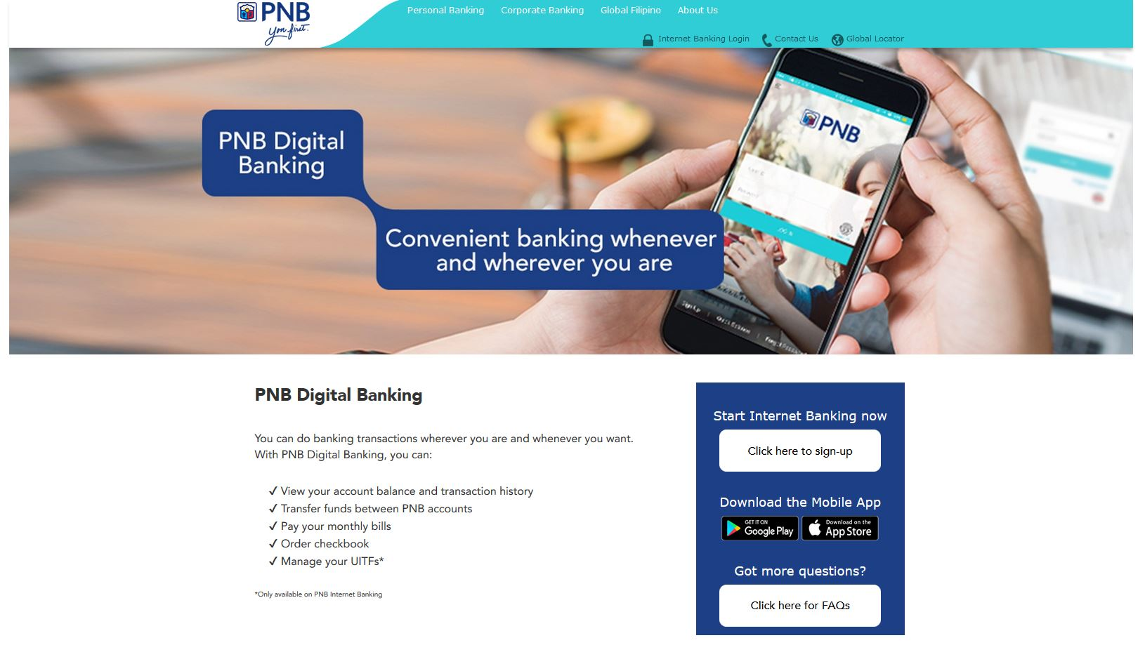 PNB-Digital-Banking-Page