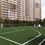 インフィナタワーズの屋外バスケットコート施設完成予想図