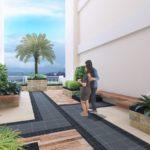 インフィナタワーズの屋上庭園施設完成予想図