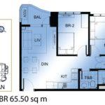 ミ カーサの2ベッドルーム65.50sqm