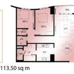 ミ カーサの3ベッドルーム113.50sqm